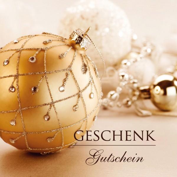 Weihnachtsgutschein Luxus gold
