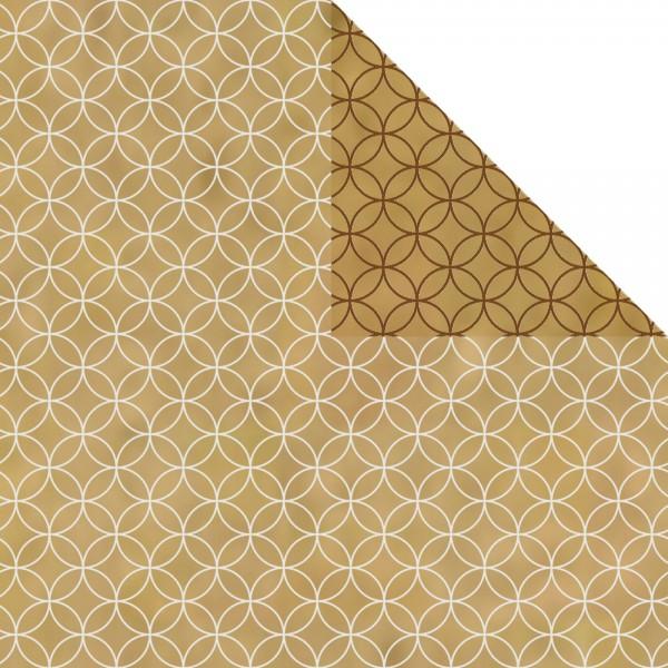 Geschenkpapier Rolle 50cm 50Meter Circles braun/weiß