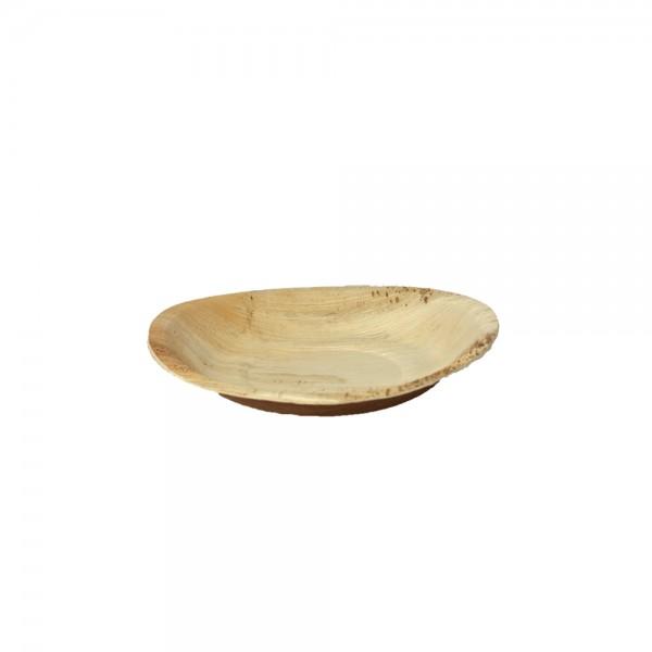 Teller rund aus Palmblatt Ø 20 cm, 2,5 cm tief