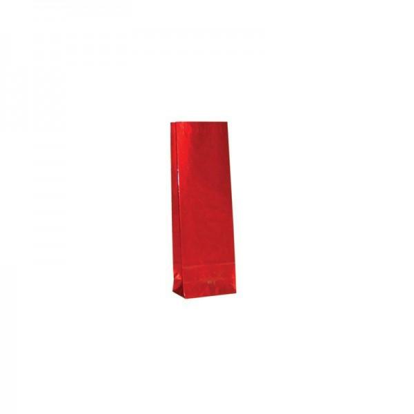 Tee Blockbodenbeutel 50gr. 5,5x3x16,5cm rot