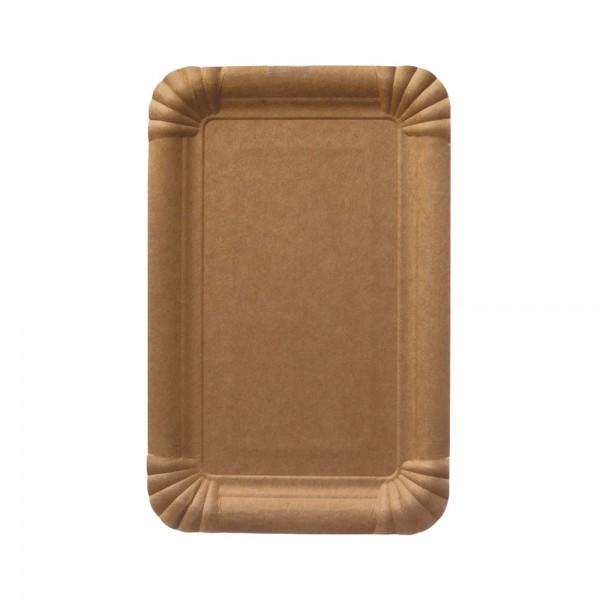 Pappteller rechteckig braun 16 x 20 cm