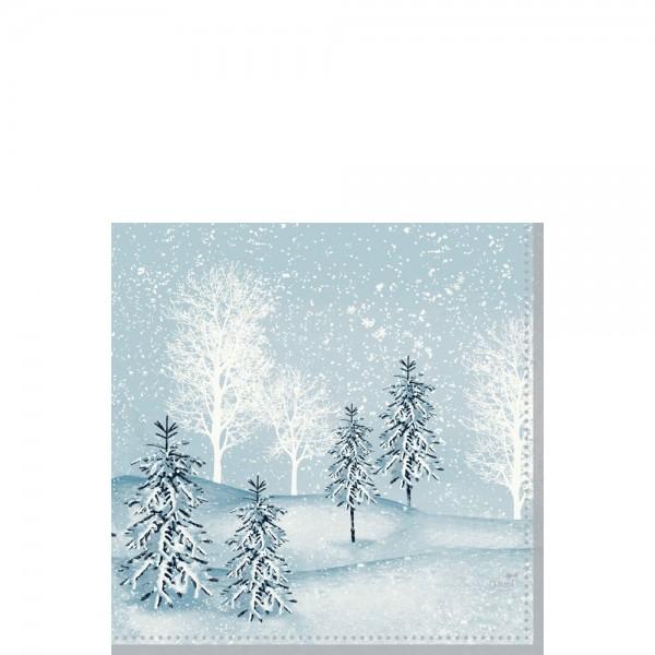 DUNI Zelltuch Serviette 33x33cm 1/4F.Winter Morning
