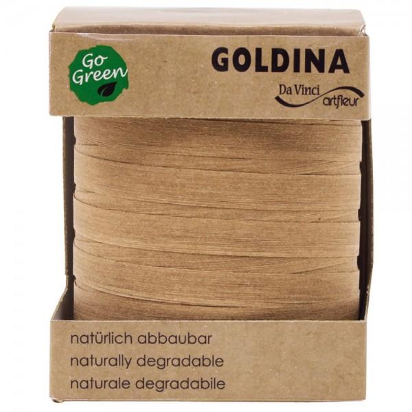 Ringelband biologisch abbaubar10mm/100Meter Gold/Natur