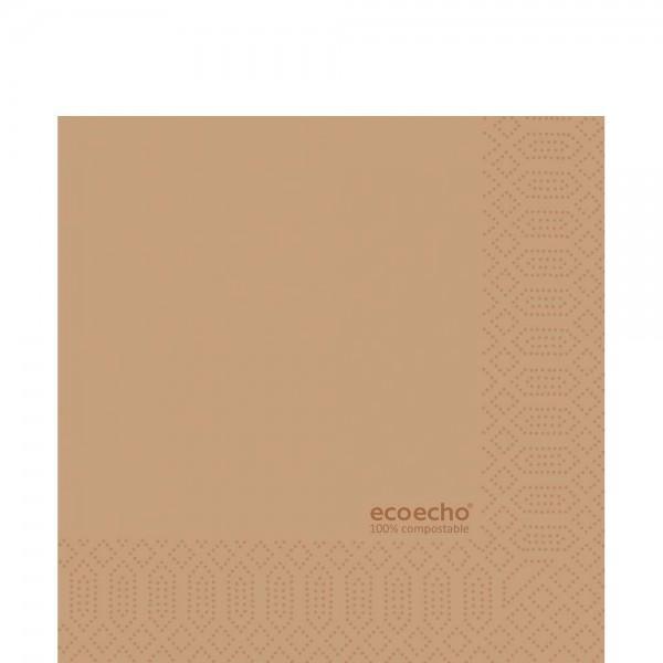 DUNI Zelltuch Serviette 33x33 cm 1/4F. Eco Braun