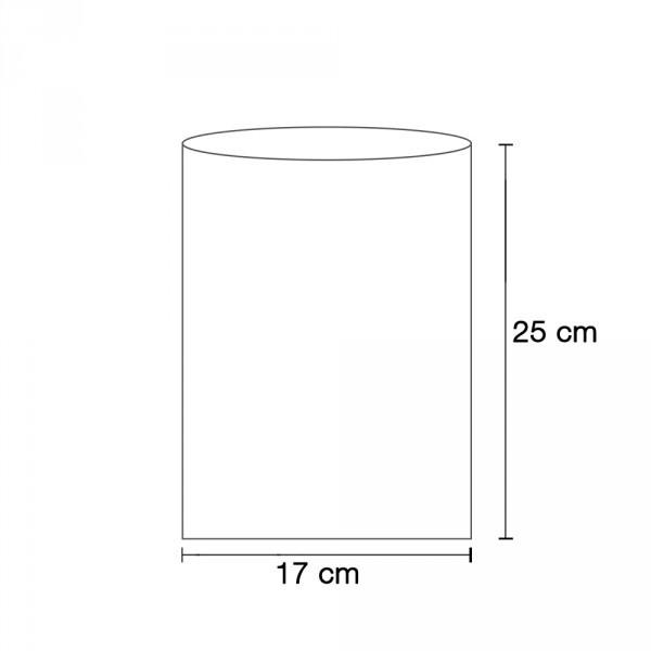 Flachbeutel weiß 17x25 cm