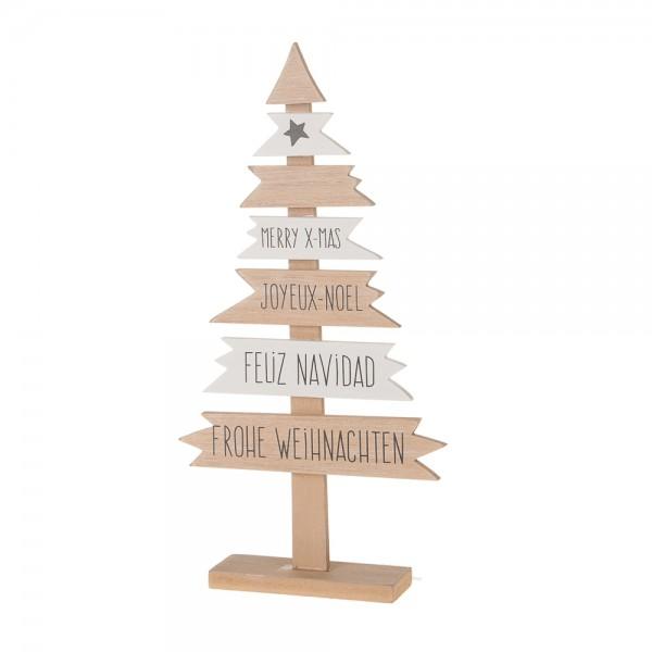 "Deko Holzbaum ""Wegweiser Christmas"" 15x3,5x28,5 cm"