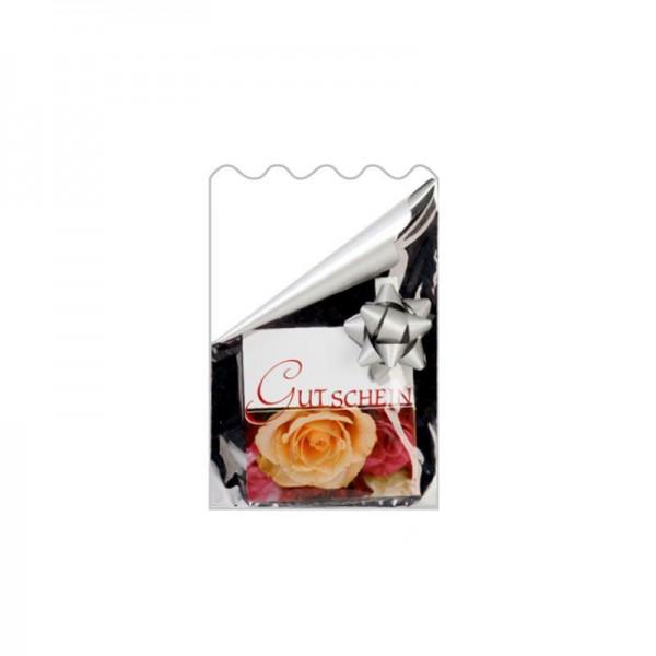 Flachbeutel Folie 16x21cm transparent/silber