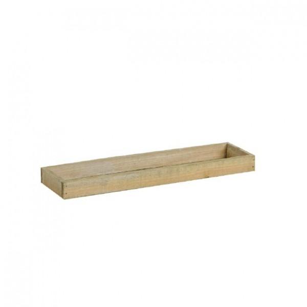 Holztablett 37x9,5x3cm braun