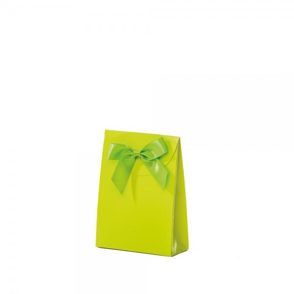Geschenktasche 10x4x13,5+5cm grün