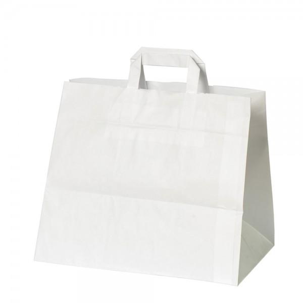 Kuchen Tragetaschen 32x17x25cm weiß Gr. 2