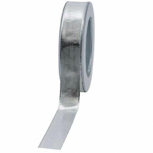 Geschenkband glänzend 25mm 25Meter silber