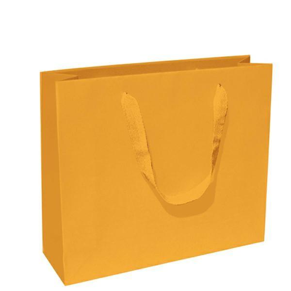 Tragetasche 42x13x37+6cm gelb mit BW Band