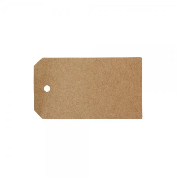 Anhänger Blanko aus Papier 4,5x8cm braun