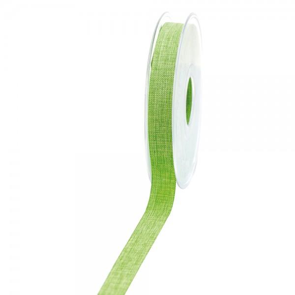 Geschenkband Leinenoptik 15mm 20Meter kiwi