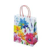 "Papier Tragetaschen ""Floral"" 18x10x22,7cm"