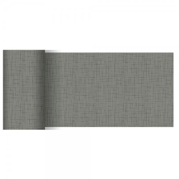 DUNI Tischläufer Linnea granite grey
