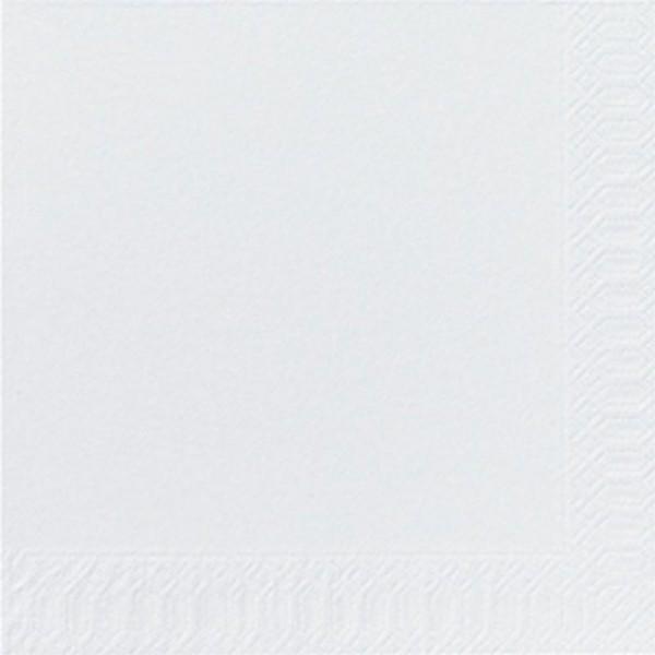 DUNI Zelltuch Serviette 40x40 cm 2lagig 1/4F. weiß
