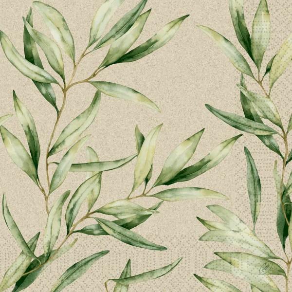 DUNI Zelltuch Serviette 40x40 cm 1/4F. Foliage