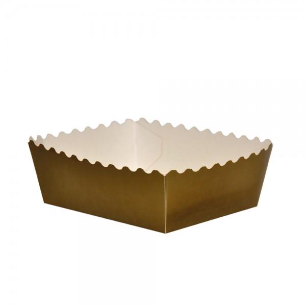 Gebäckschalen gold 148x123x30mm