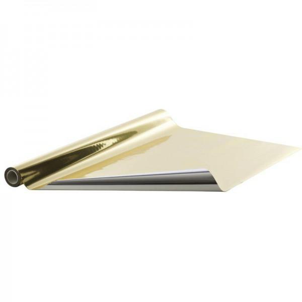 Geschenkfolie Rolle 70cm 50 Meter Gold/Silber