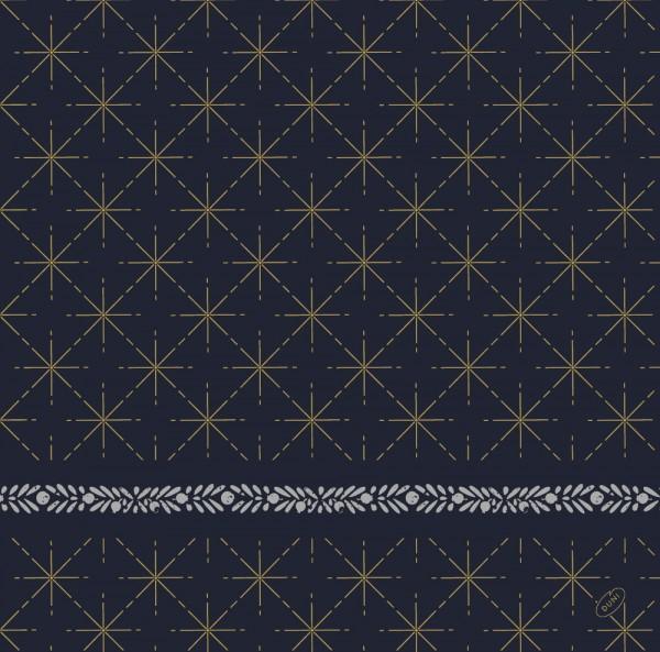 DUNI Dunisoft Serviette 40x40cm 1/4. Glitter Black