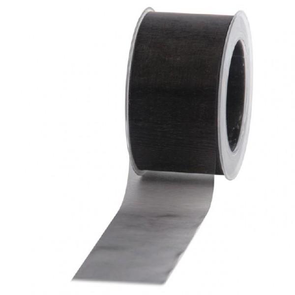 Geschenkband Chiffon 60mm/50Meter schwarz