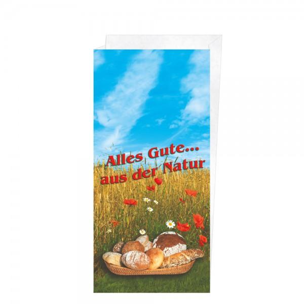 "Faltenbeutel ""Alles Gute aus der Natur"" 20+7x42cm Nr.7"