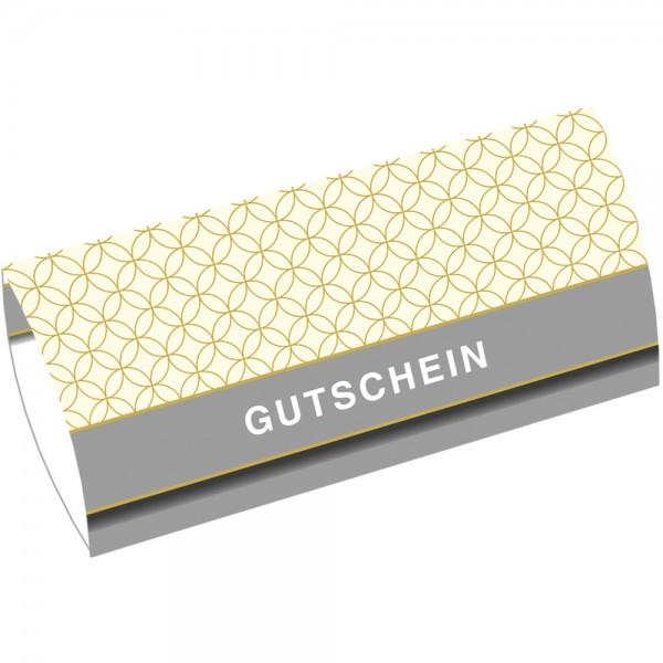 Gutschein-Klappkarte DIN Lang Circles Creme