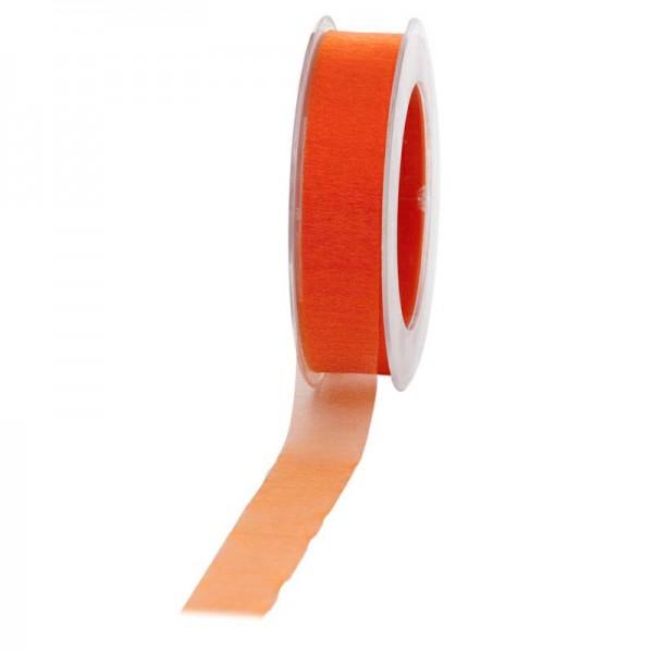 Geschenkband Chiffon 25mm/50Meter orange