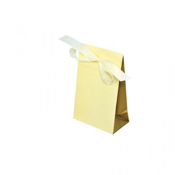 Geschenktasche creme/gold 100x60x157+42mm