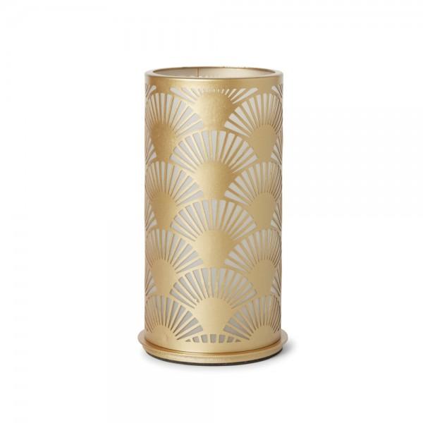 DUNI Kerzenhalter aus Metall 140x75 mm Peacock gold