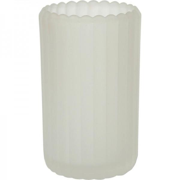 DUNI Kerzenglas Patio gefrostet 125x75 mm weiß