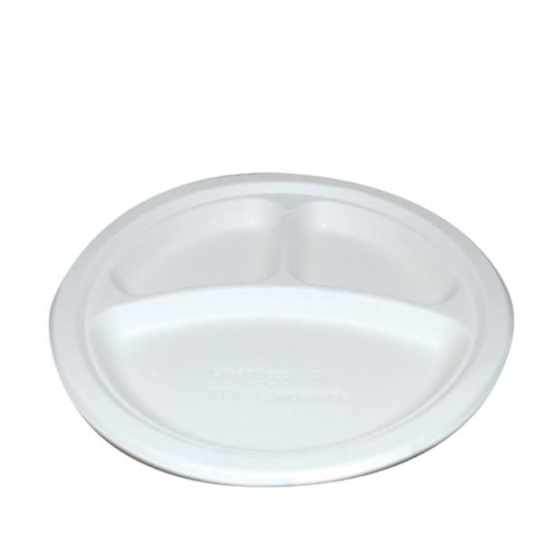 Teller 3-geteilt weiß Ø 26,3 cm