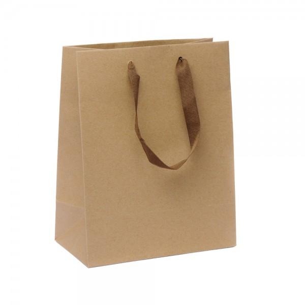 Kordel Tragetaschen 18x10x22,7+4cm braun Recycling