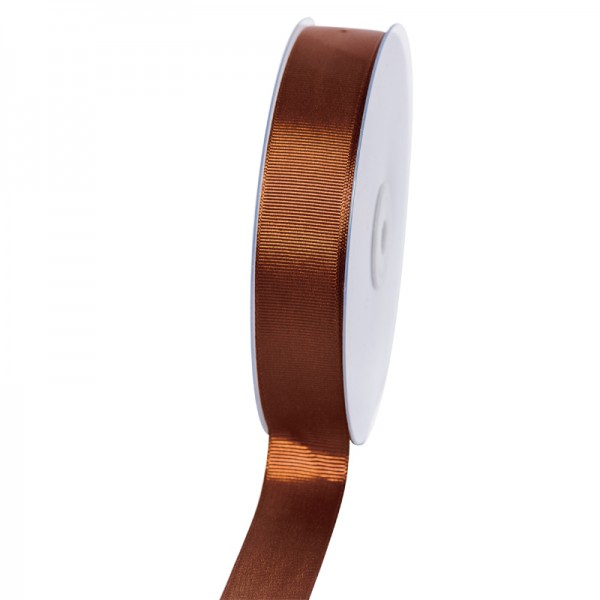 Geschenkband Grosgrain 25 mm/50Meter braun