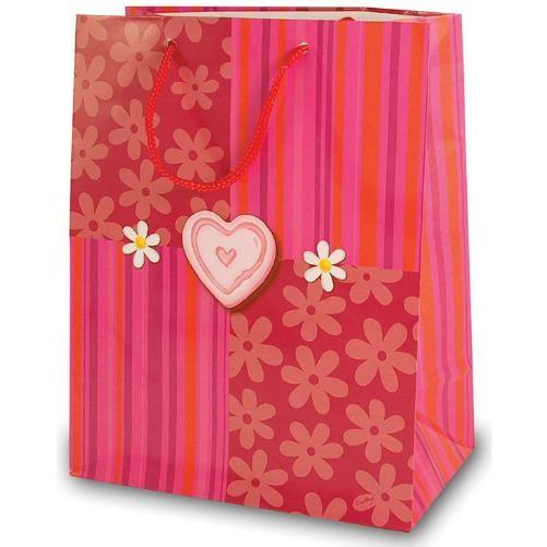 Tragetaschen Herz pink / rosa 18x10x23 cm