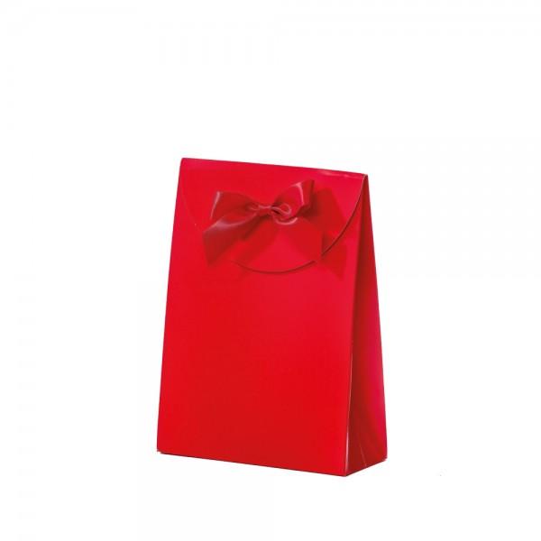 Geschenktasche 13,5x5,5x18,5+6,7cm rot