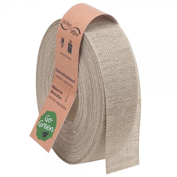 Leinenband biologisch abbaubar 40mm/20Meter Basic Natur