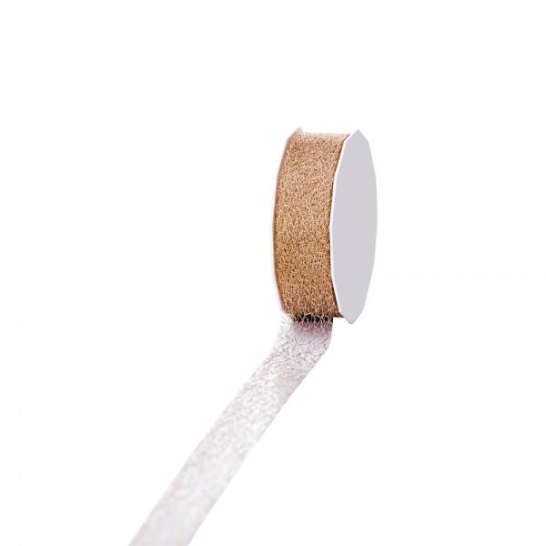 Geschenkband Metallic Trend Style 25mm 20Meter Gold