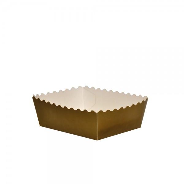 Gebäckschalen gold 115x75x25mm