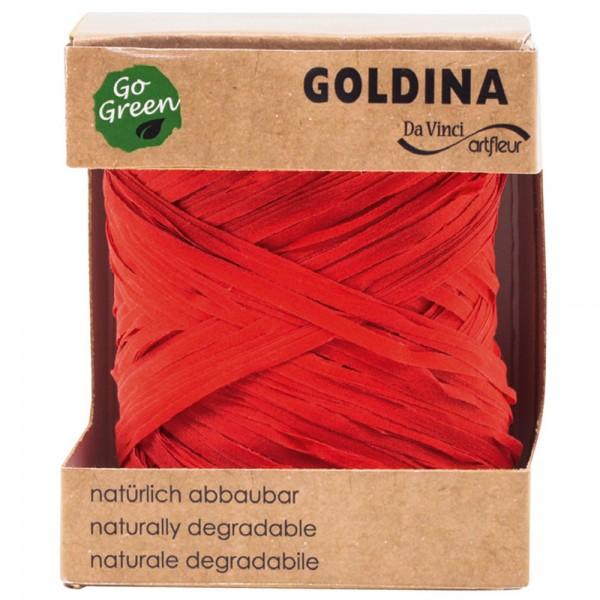 Raffia Band biologisch abbaubar 10mm/50Meter Rot