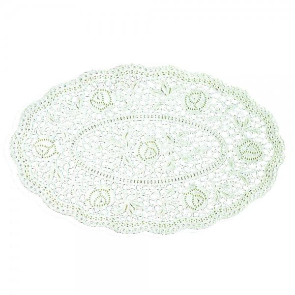 Tortenspitzen weiß oval 15x22cm