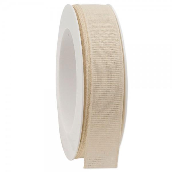 Leinenband biologisch abbaubar 25mm/20Meter Spring Creme