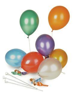 Luftballon farbig sortiert