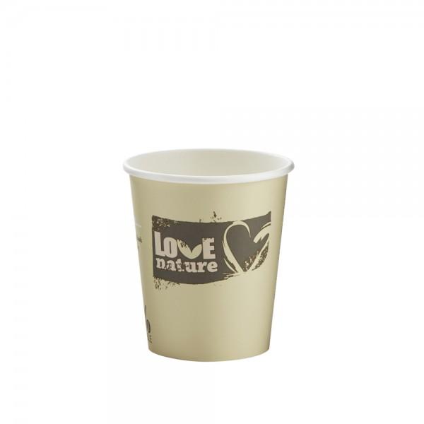 Heißgetränkebecher 100% kompostierbar 200 ml