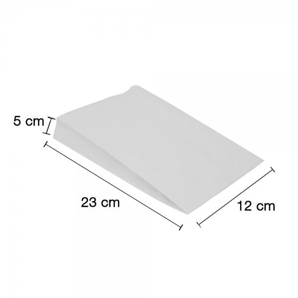 Fettgebäck Faltenbeutel weiß 12x5x23cm