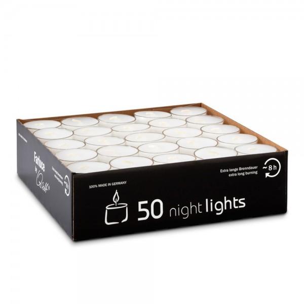 Teelichter Nightlights transparente Kappe 38 mm