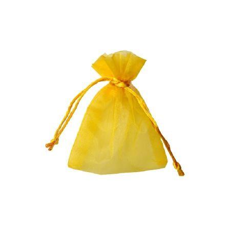 Organza Säckchen 9 x 12 cm - gelb