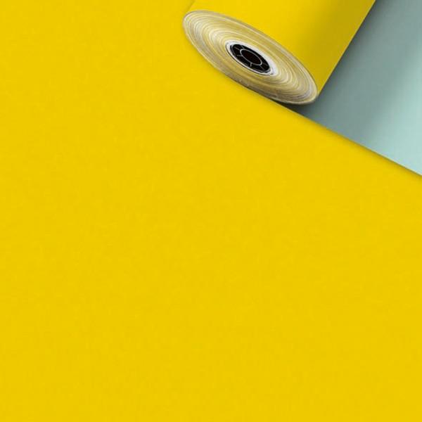 Geschenkpapier Rolle 50cm 200Meter Uni matt gelb