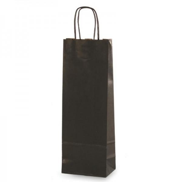Flaschen Tragetaschen 14x9x40cm schwarz